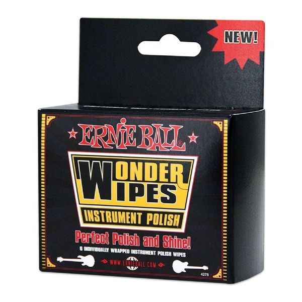 Ernie Ball Wonder Wipe Guitar Body Polish (Pack of 6) - 4278